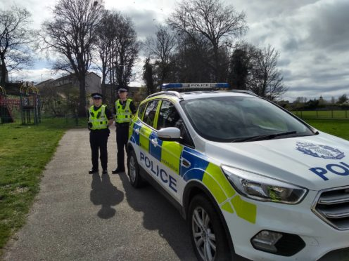 Police in Forres have stepped up patrols in the town.