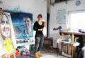 Laura Maynard in the studio