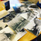 The photographs which used to line walls of the Lodge have been damaged beyond repair