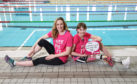 Swimmer Hannah Miley and Katie Pake. Video courtesy of Cancer Research UK.