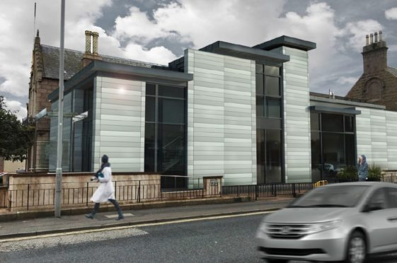 Design plans for how Peterhead Sheriff Court will look in nine months time.