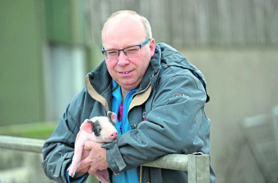 Kevin Gilbert on his farm, Womblehill Farm near Kintore/Dunecht. Picture by Darrell Benns.