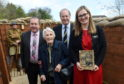 L-R: Graeme Dey MSP, Dr Margaret Moffat, Charlie Sloan (Chairman), and Ruth Duncan (Curator) at the official opening of the Moffat Trench at the Gordon Highlanders Museum in Aberdeen.
