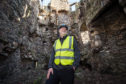 Picture by JASON HEDGES    Pictures show Simon Ovenden (Crown Estate Scotland Country Side Manager for Glenlivet Castle) at Blairfindy Castle where restoration work is due to be carried out.