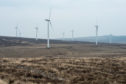 Wind Turbines at Rothes Wind Farm.