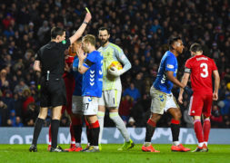 Rangers appeal Alfredo Morelos' Scottish Cup yellow card against Aberdeen