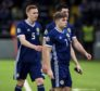 Scotland's James Forrest trudges off the field at full-time.