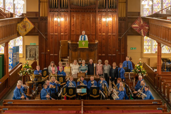 Keith and District Silver Bank performed at St Rufus Church in Keith to celebrate 200 years since it opened.