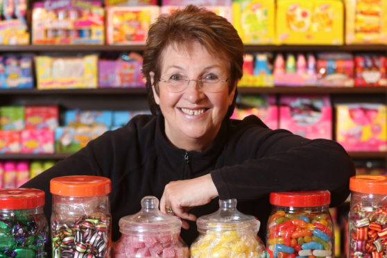 Susan Young, owner of Mr Simms Olde Sweet Shoppe on Church Street, Inverness. Picture by Andrew Smith.