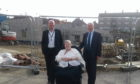 Tom Gilchrist, Jean Kemp and Trevor Garlick at Dee View Court in Aberdeen.