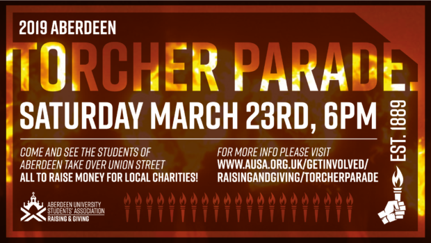The Torcher Parade will be held on Union Street on March 23.