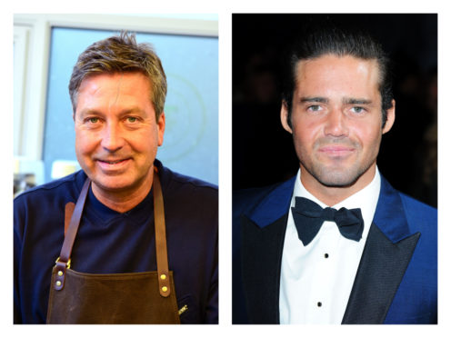 John Torode, left, and Spencer Matthews right