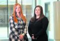 Lauren Fraser and Lauren Strachan at the Rowett Institute, Aberdeen. Lauren Strachan is on the waiting list to get treatment for endometritis.  Picture by Darrell Benns.