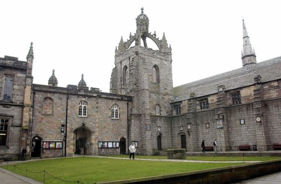 The quad at Kings College, Aberdeen University.