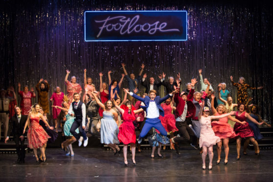 A lively performance from the cast of Footloose