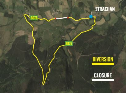 The road closure means motorists will have to take a seven-mile detour.