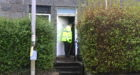 Police at the scene of the fire in Gladstone Place, Woodside Aberdeen. Picture by Chris Sumner.