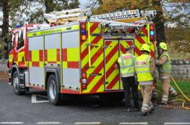 One fire engine was sent to the scene.