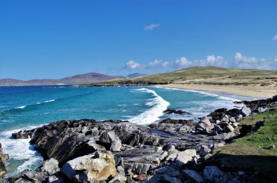 The beach known as Traigh Iar, near Horgabost, on the Isle of Harris.