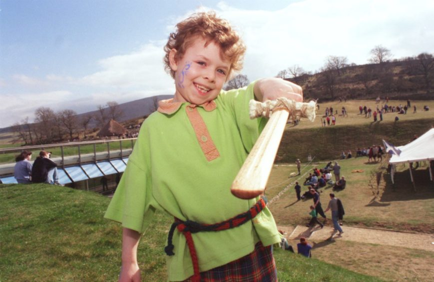 Christopher Trestrail gets in to the swing of things at The Archaeolink first open day of the season.