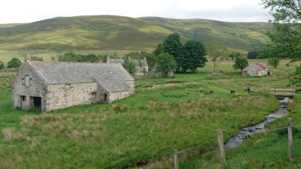 Scalan seminary and steadings.