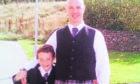 Crash victim Leslie Taylor with his son Joel.