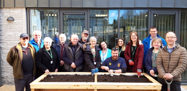 Men's Shed handover planters commissioned for a gardening club to be located at the council offices in Lochaber.