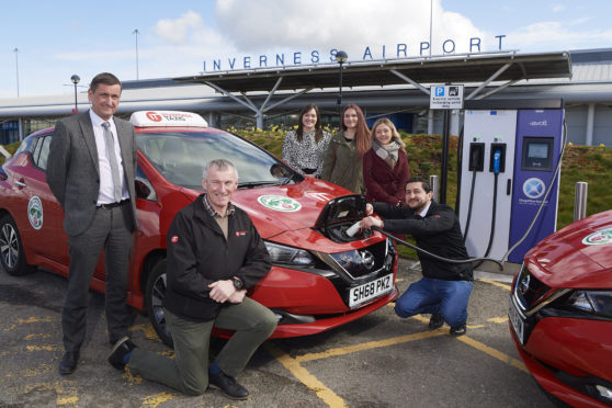 Electric Taxis, Inverness Airport.