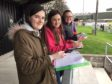 Speyside High School pupils attended a football match at Rothes to collect statistics.