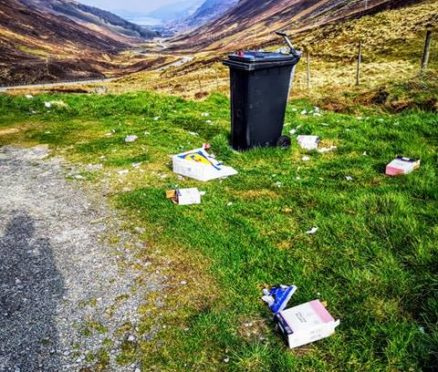 Kevin Bowie, from Nairn, took a picture of the rubbish at Loch Maree.