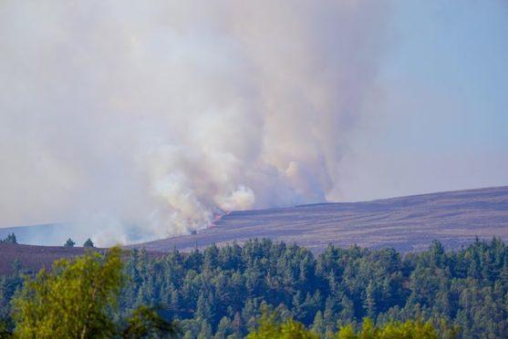 Firefighters battling large wildfire near Speyside wind farm