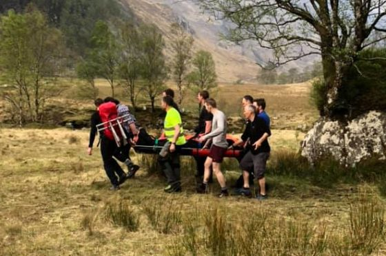 One casualty was stretchered to the rescue helicopter