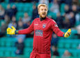 23/12/17 LADBROKES PREMIERSHIP  HIBERNIAN V ROSS COUNTY (2-1)   EASTER ROAD - EDINBURGH   Ross County goalkeeper Scott Fox looks dejected