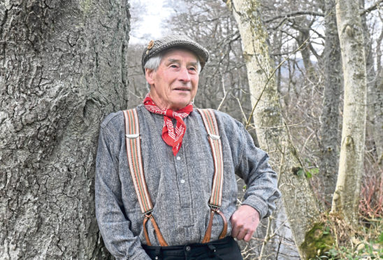 Hector Riddell from Finzean who holds the title of champion of champions for bothy ballads Pic by Chris Sumner.