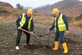 Scottish Salmon Company Craig Anderson SSC Chief Executive and Richard Polanski SSC Recirculation Project Manager