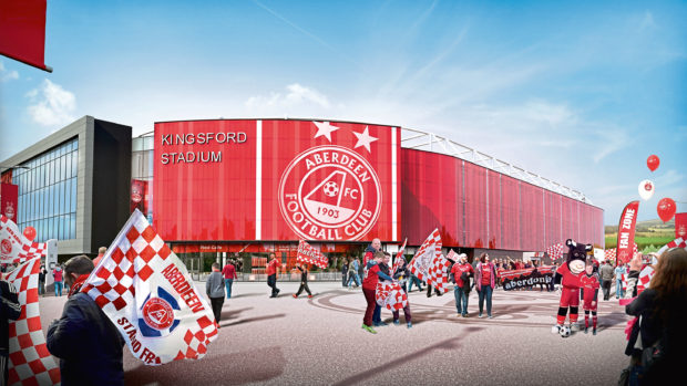 Image showing the planned Aberdeen FC stadium at Kingsford.