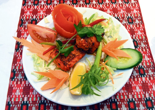 In the picture is Monk fish tikka. Picture by Jim Irvine  29-3-19.