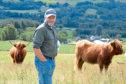 NFU Scotland vice-president Martin Kennedy at his Lurgan Farm, near Aberfeldy.