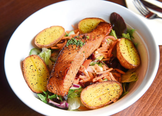 Whisky Salmon Salad. Pictures by Sandy McCook.