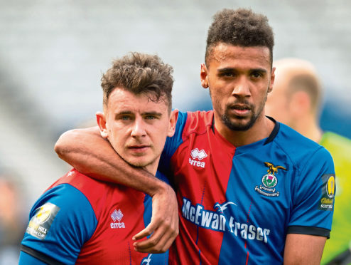 Inverness' Aaron Doran and Nathan Austin (L-R)