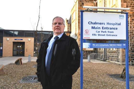 Banff councillor John Cox has been involved in talks on extra parking outside Chalmers Hospital.