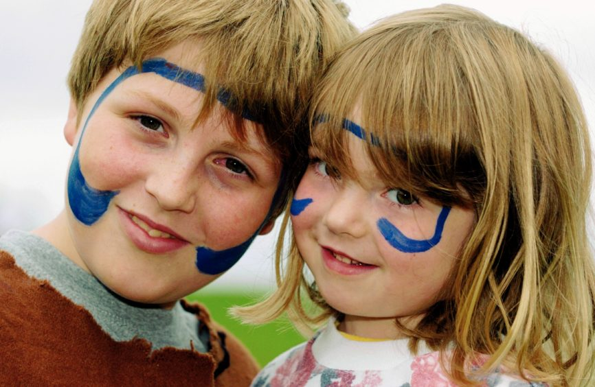 David 11 and Corinna Setterington 4, with faces painted. Picture Simon Walton