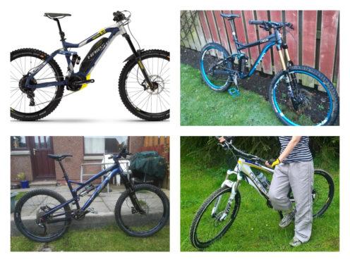 The bikes were taken overnight