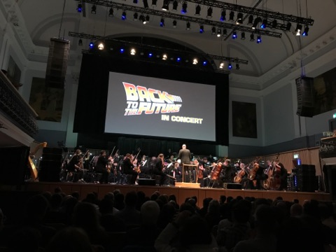 An orchestra performed the score to Back to the Future during a unique live show in Aberdeen last night