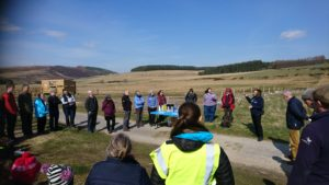 Bird hide opening in Tomintoul