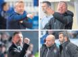 DESTINY WEEK: Clockwise from top left: Caley Jags boss John Robertson, Peterhead manager Jim McInally, Ross County duo Stuart Kettlewell and Steven Ferguson and Aberdeen's Derek McInnes