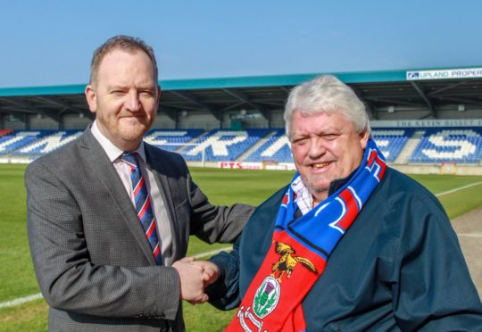 New Caley Thistle chief executive Scot Gardiner with chairman Graham Rae.