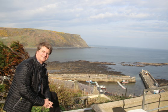 Dacre Stoker visited Gardenstown on Saturday, the 107th anniversary of his famous great-grand uncle's death in 1912