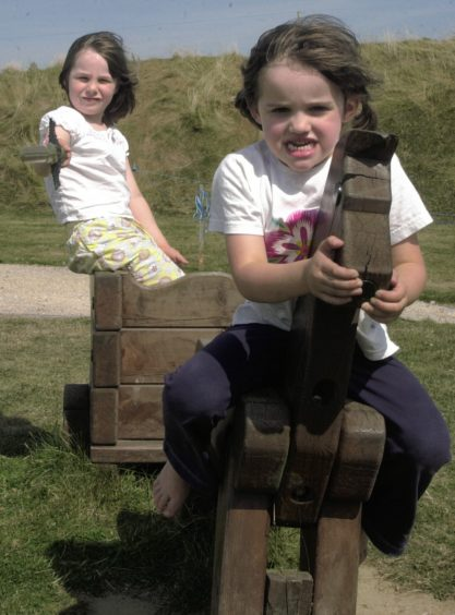 Fun in  at  Archaeolink in pic from the front Rose Mercer 5 and Molly Kidd 5.