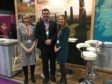Elaine Tulloch with Gareth Chrichton and Kathleen Hogarth at the VisitScotland Expo, where interest in Orkney skyrocketed